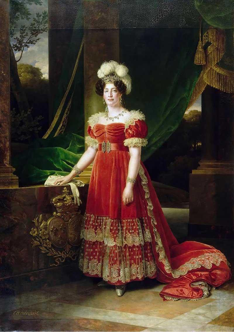 0.Мария Тереза Шарлотта Французская, герцогиня Ангулемская художник Каминад Александр Франсуа (1789