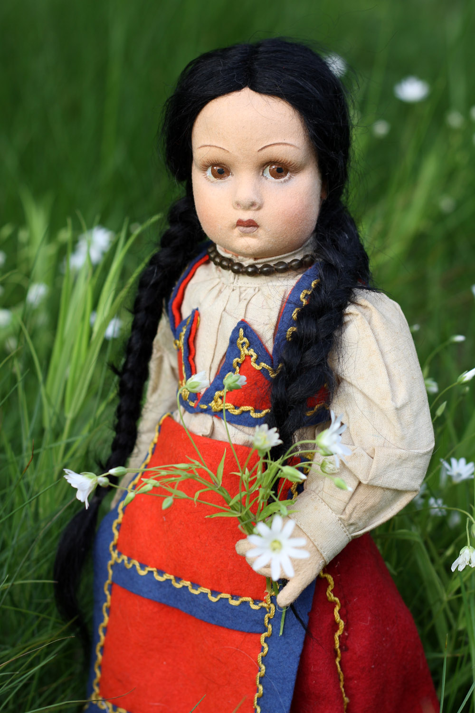 Антикварная кукла Лючия фабрики Ленчи