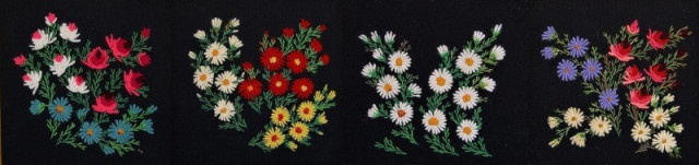 Коллаж из вышивок мамы