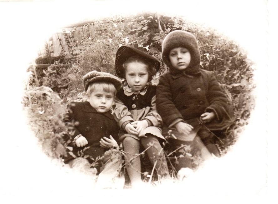 Я, Оля и Володя.