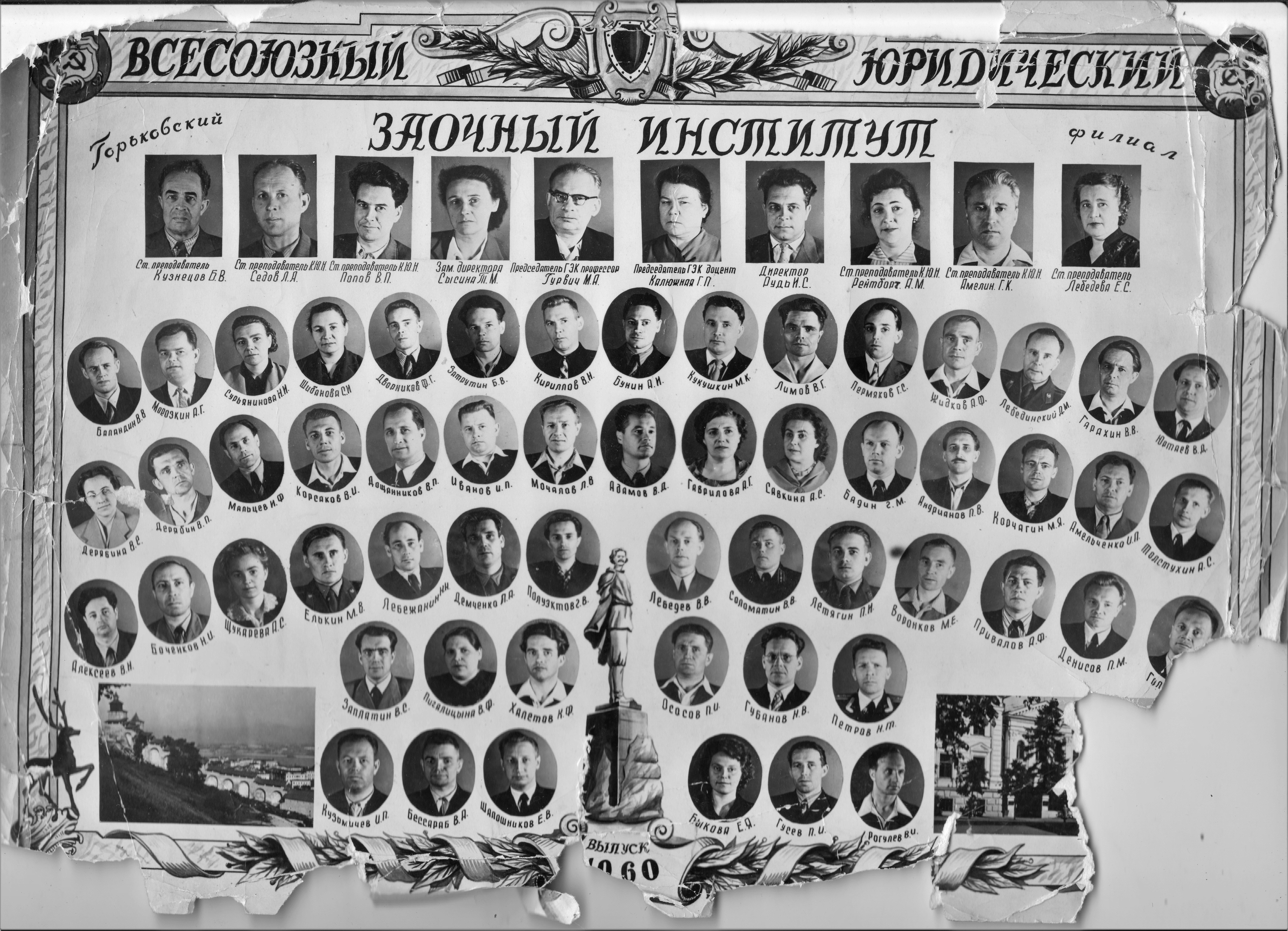 Выпускники 1960 года, ВЮЗИ, Горьковское отделение