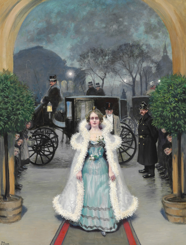 1901_ELEGANTNAY-PARA-PRIBYVAET-V-DVORET-TOTTA-V-KONGENS-NITORV-An-elegant-couple-arrives-at-the-Thott-Palace-at-Kongens-Nytorv_74-K-56.5_K.M._CASTNOE-SOBRANIE.jpg