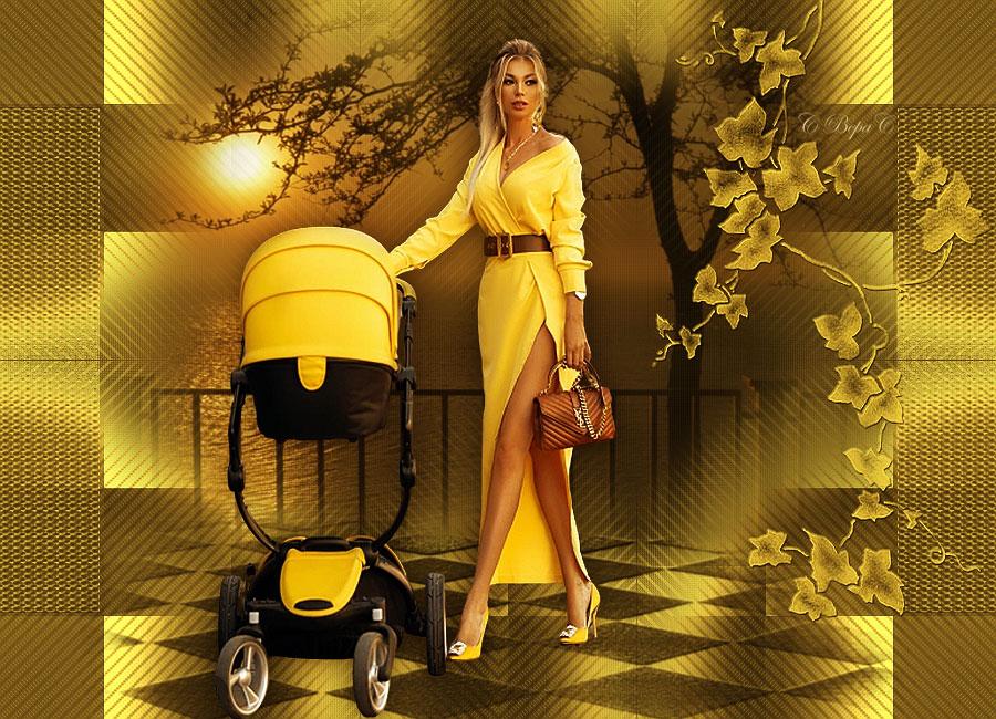 мамочка с детской каляской