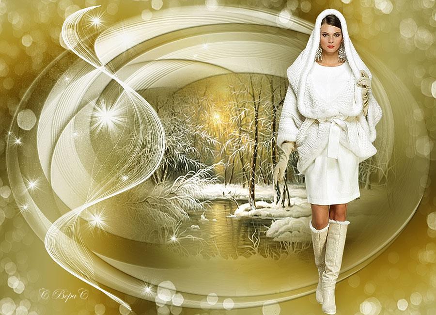 зимний жеелто белый коллаж