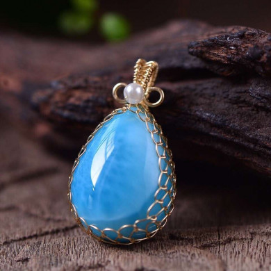 Natural-Blue-Larimar-Gemstone-Pendant-Necklace-Chain-From-Dominica-21x16x9mm-Beads-Water-Pattern-Crystal-Pendant-AAAAA.jpg
