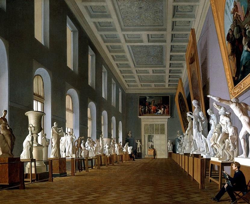 944px Михайлов Григорий Вторая античная галерея в Академии художеств (1836)