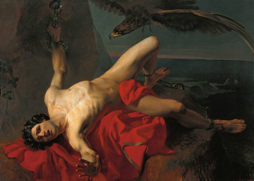 Михайлов Григорий Прометей, эскиз (1839)