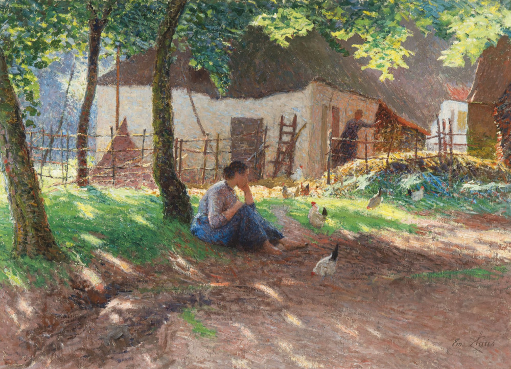 Emile Claus The Barnyard 1893